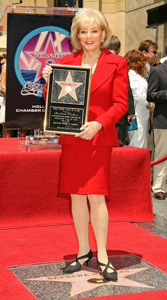 "Barbara Walters finally receives a Star on The Hollywood Walk of Fame. Russell Einhorn/<a href=""http://www.splashnewsonline.com"" target=""new"">Splash News</a> - June 14, 2007"