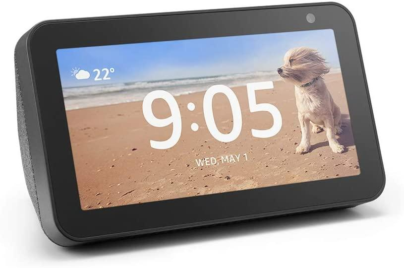 The Echo Show 5 features built-in Alexa voice controls.