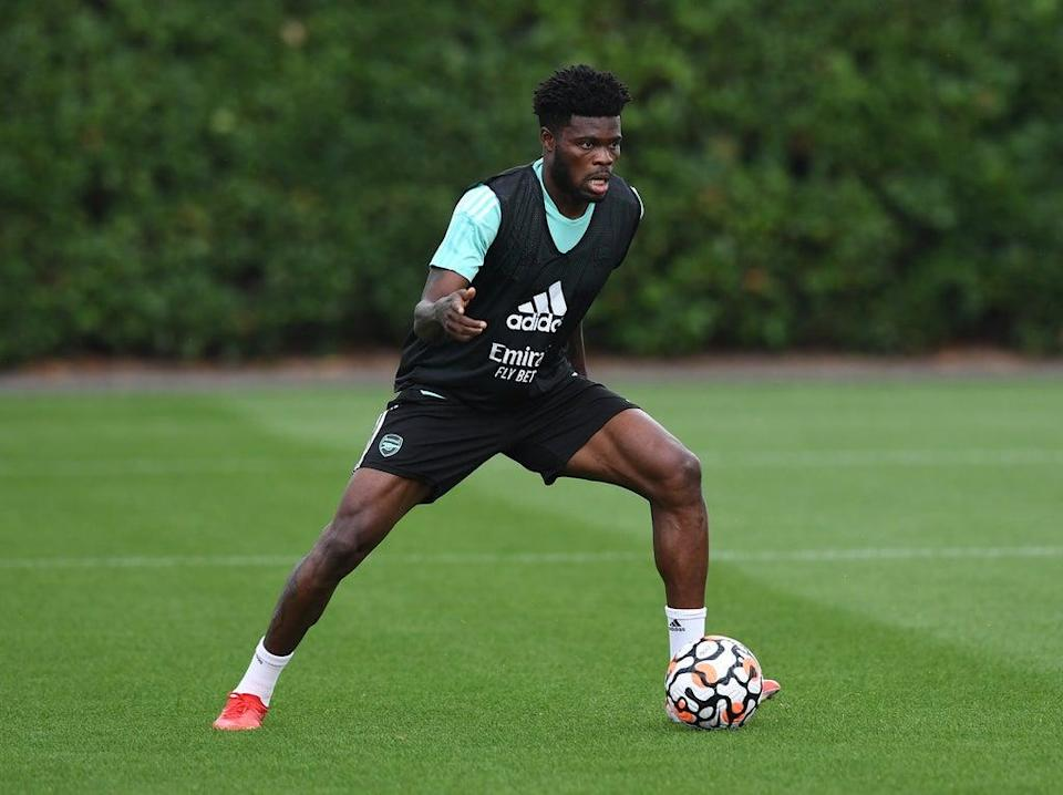 Thomas Partey has been challenged to become a leader at Arsenal by manager Mikel Arteta  (Arsenal FC via Getty Images)
