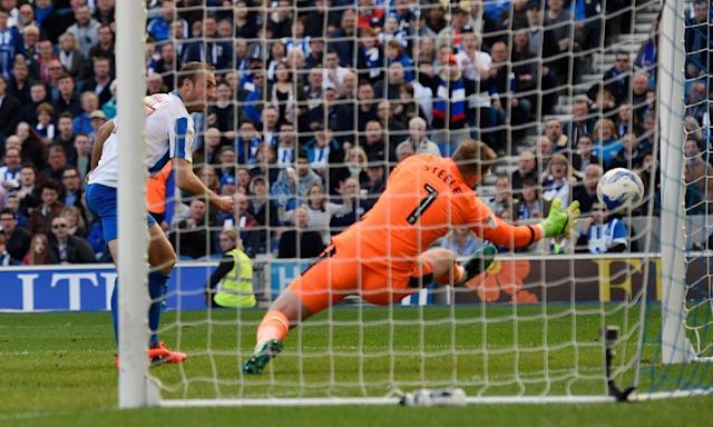 "<span class=""element-image__caption"">Brighton's Glenn Murray scores the opening goal against Blackburn.</span> <span class=""element-image__credit"">Photograph: Adam Holt/Reuters</span>"