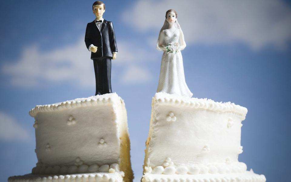 The rules would mean a couple could get divorced after a wait of just six months rather than separating for two years - RUBBERBALL