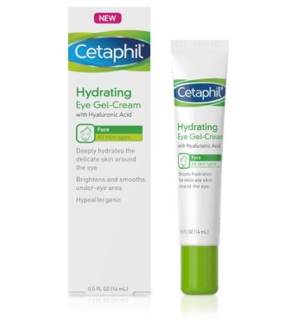 Cetaphil Hydrating Eye Gel-Cream With Hyaluronic Acid - Designed to Deeply Hydrate, Brighten & Smooth Under-Eye Area - For All Skin Types /Amazon.com.mx