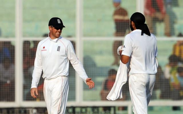 Graeme Swann and Monty Panesar spun England to an unlikely win (Anthony Devlin/PA)