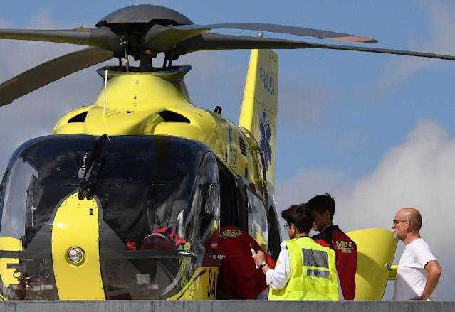Chris Froome had to be airlifted to hospital (AFP Photo/Anne-Christine POUJOULAT)