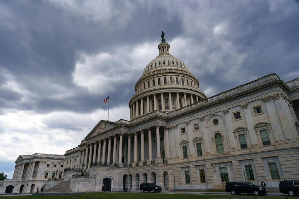 <p>After months of discussion, two congressmen have agree on a bill to establish a 9/11-style commission to study the 6 January Capitol riot</p> (AP)