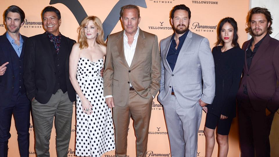 "LOS ANGELES - MAY 30: Cast at the ""Yellowstone"" Season 2 Premiere Party at the Lombardi House on May 30, 2019 in Los Angeles, CA."