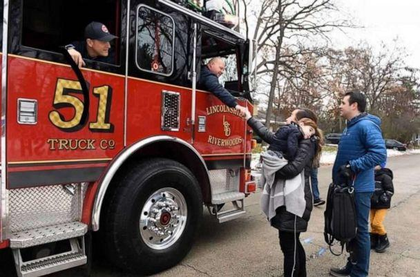 PHOTO: Over 100 trucks, buses, cars and first responder vehicles came to the event held on Nov. 17. in Lincolnshire, Illinois, in celebration of Nash Stineman. (Mindy Abern)