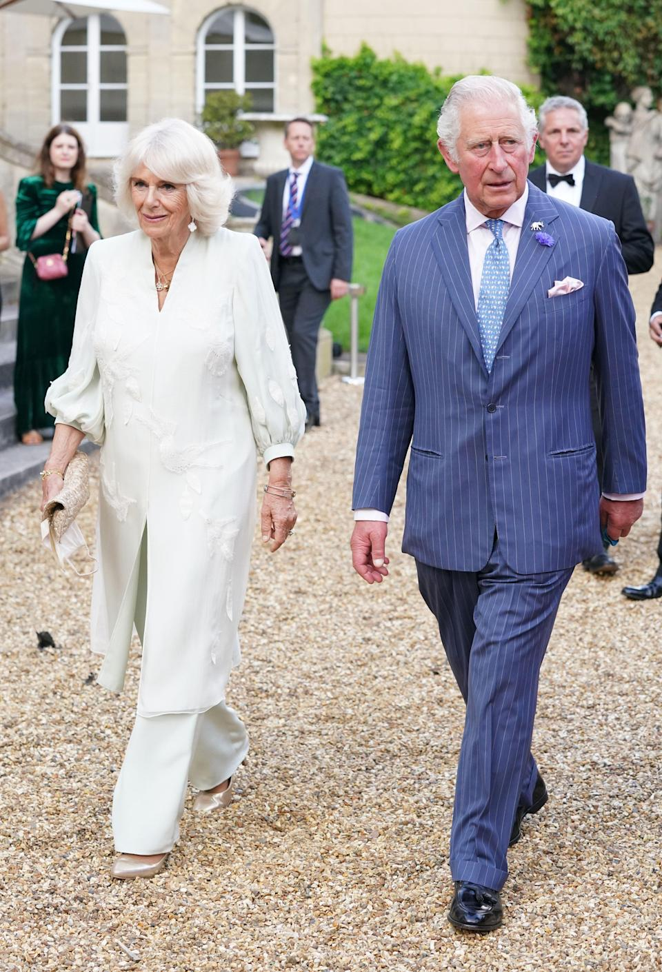 Charles and Camilla arrive at Lancaster House (Jonathan Brady/PA) (PA Wire)