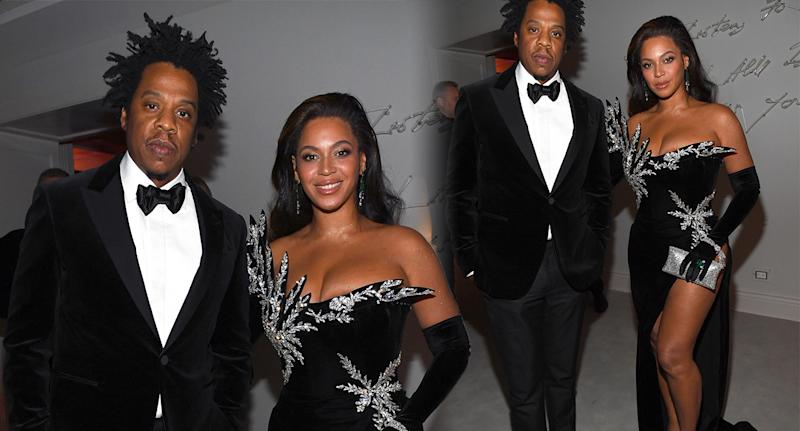 Beyonce and Jay Z at Diddy's birthday bash. [Photo: Getty]