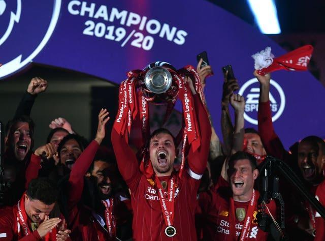 Jordan Henderson was the first Liverpool captain to raise the league title in 30 years.