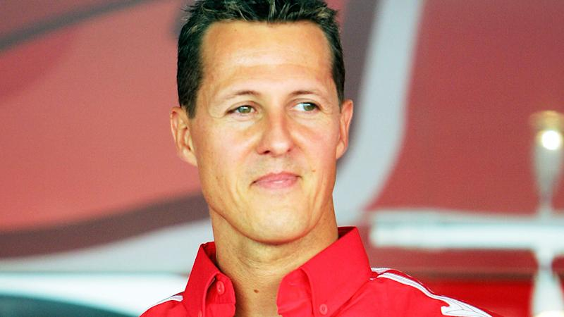 Michael Schumacher looks on at the Italian F1 Grand Prix in 2005. (Photo by Lars Baron/Bongarts/Getty Images)