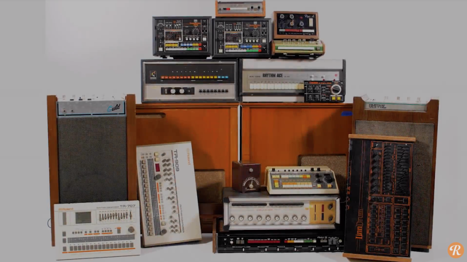 Moby has put together an impressive collection of drum machines over the