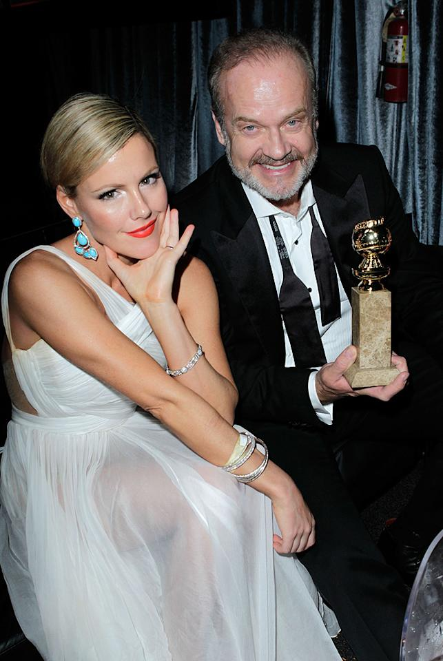 BEVERLY HILLS, CA - JANUARY 15:  Actress Kathleen Robertson and actor Kelsey Grammer attend The Weinstein Company's 2012 Golden Globe Awards After Party held at The Beverly Hilton hotel on January 15, 2012 in Beverly Hills, California.  (Photo by Jeff Vespa/Getty Images for TWC)
