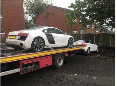 The total value of the 60 stolen cars was estimated to be around half a million pounds. (Lancashire Police)
