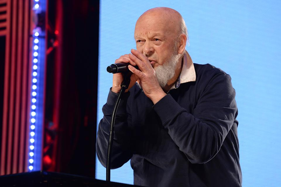 Michael Eavis collects the Best Festival Award on stage during the NME Awards 2016 with Austin, Texas at the O2 Brixton Academy, London.