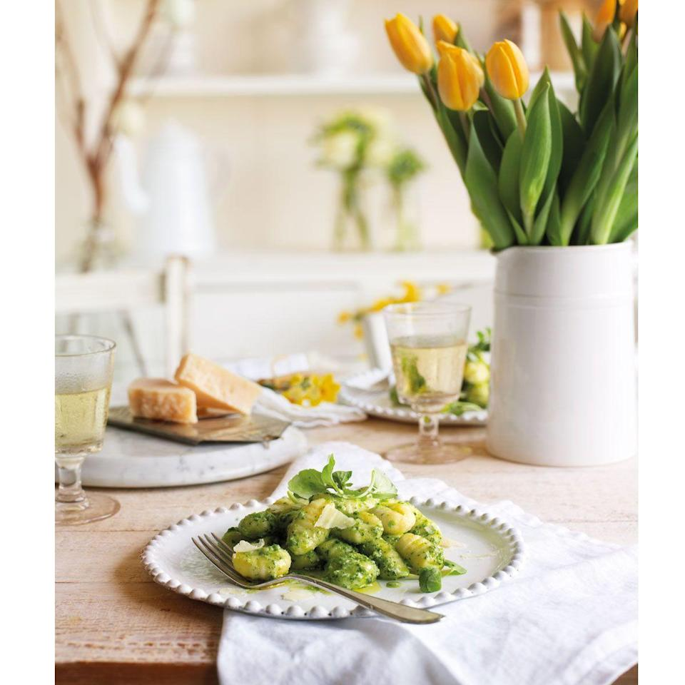 """<p>Make the pesto up to a day in advance, then chill or freeze until ready to use</p><p><strong>Recipe: <a href=""""https://www.goodhousekeeping.com/uk/food/recipes/a553279/gnocchi-with-pea-and-watercress-pesto/"""" rel=""""nofollow noopener"""" target=""""_blank"""" data-ylk=""""slk:Gnocchi with pea and watercress pesto"""" class=""""link rapid-noclick-resp"""">Gnocchi with pea and watercress pesto</a></strong></p>"""