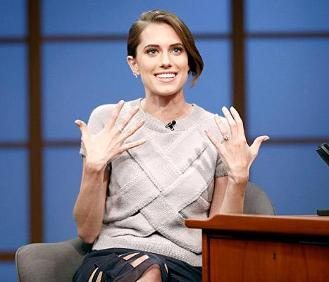 "Allison Williams Shows Off Engagement Ring on Late Night: ""I'm Obsessed With It"""