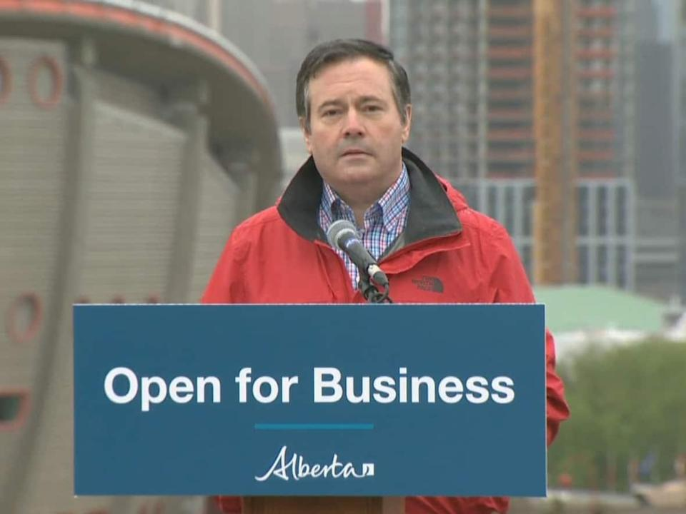 While Jason Kenney's government has often touted jobs as part of its mandate, critics say a focus on fossil fuel development, potentially at the expense of other sectors, has not impressed young people in Alberta. More than 15,000 Albertans have left the province in the past five quarters, according to Statistics Canada. (CBC - image credit)