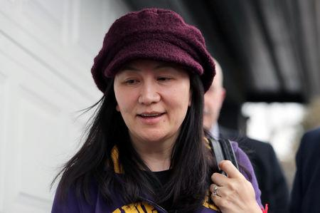 FILE PHOTO: Huawei Technologies Co Chief Financial Officer Meng Wanzhou arrives back at home after her court appearance in Vancouver, British Columbia, Canada, March 6, 2019.  REUTERS/Ben Nelms/File Photo