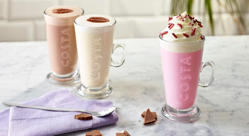 Costa Impresses Customers With Pink Hot Chocolate Thats