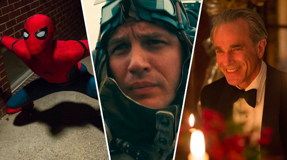 2017 hits Spider-Man: Homecoming, Dunkirk and Phantom Thread will hit iPlayer this Christmas. (Sony Pictures/WB/Universal)