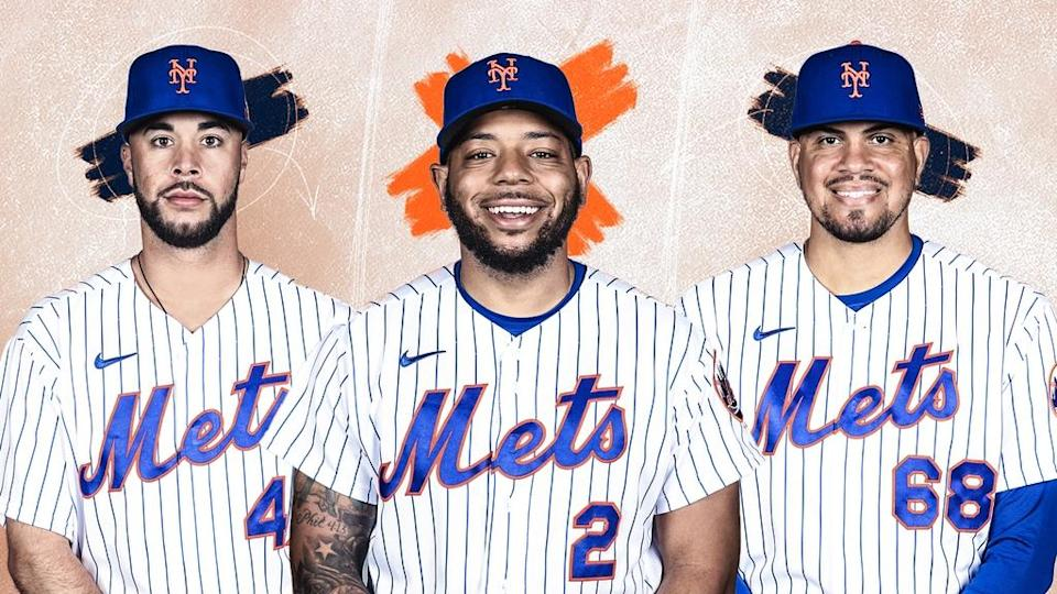 Joey Lucchesi, Dominic Smith, and Dellin Betances TREATED ART