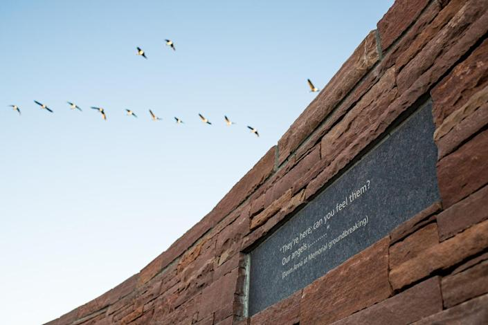 The Columbine Memorial in Littleton, Colo. (Photo: Carl Bower for Yahoo News)