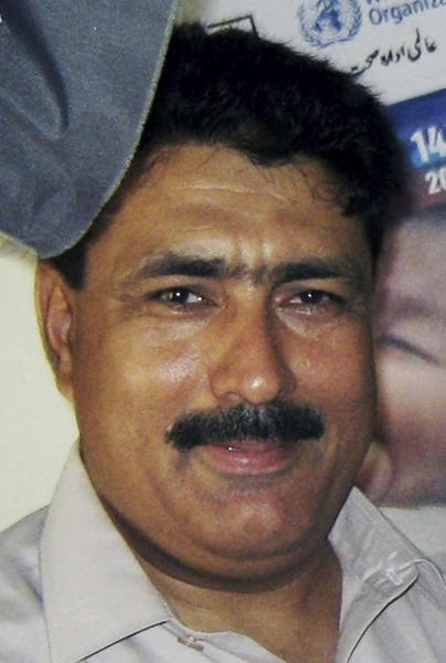 FILE - In this July 9, 2010 file photo, Pakistani doctor Shakil Afridi is photographed in the Jamrud tribal area, Khyber region of Pakistan. Afridi who reportedly used a vaccination scam to identify Osama bin Laden's home, has been languishing in jail since the al-Qaida leader was killed by U.S. Navy Seals in 2011 -- his case a metaphor for downward spiraling relations between his country and the U.S. (AP Photo/Qazi Rauf, File)