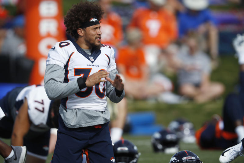 "Denver Broncos running back Phillip Lindsay is right: his ""Madden 20"" avi looks nothing like him. (AP)"