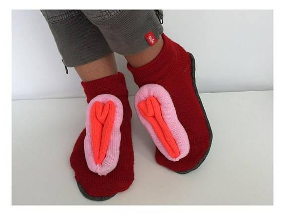 "<p><a rel=""nofollow"" href=""https://www.etsy.com/uk/listing/530249100/halloween-slippers-knitted-vulva-fanny?ref=shop_home_active_21""><i>Etsy, £20.25</i></a><br /><br /></p>"
