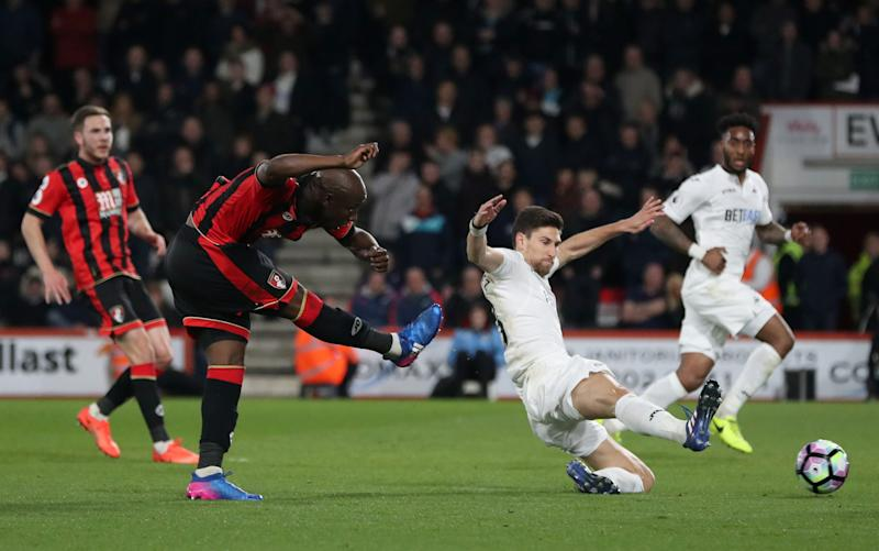 Benik Afobe scores against Swansea