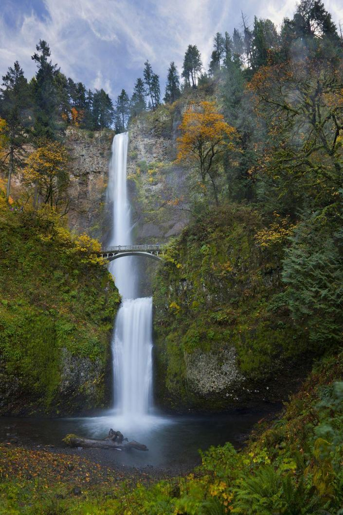 <p><strong>Where: </strong>Multnomah Falls, Oregon</p><p><strong>Why We Love It: </strong>Located in the Columbia River Gorge, this two-step waterfall is the tallest in Oregon.</p>