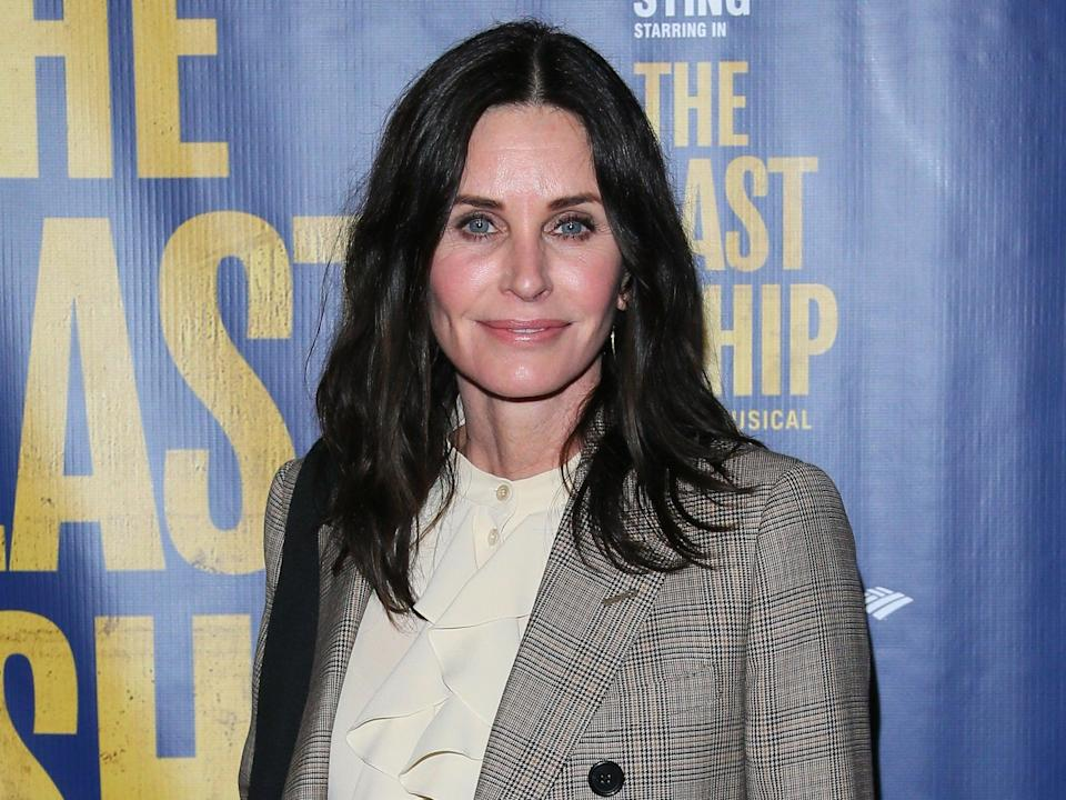 Courteney Cox attends the opening night performance of the musical The Last Ship on 22 January 2020 in Los Angeles, California (Jean Baptiste Lacroix/Getty Images)