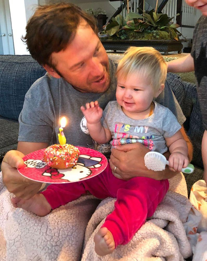 Bode Miller with daughter Emeline