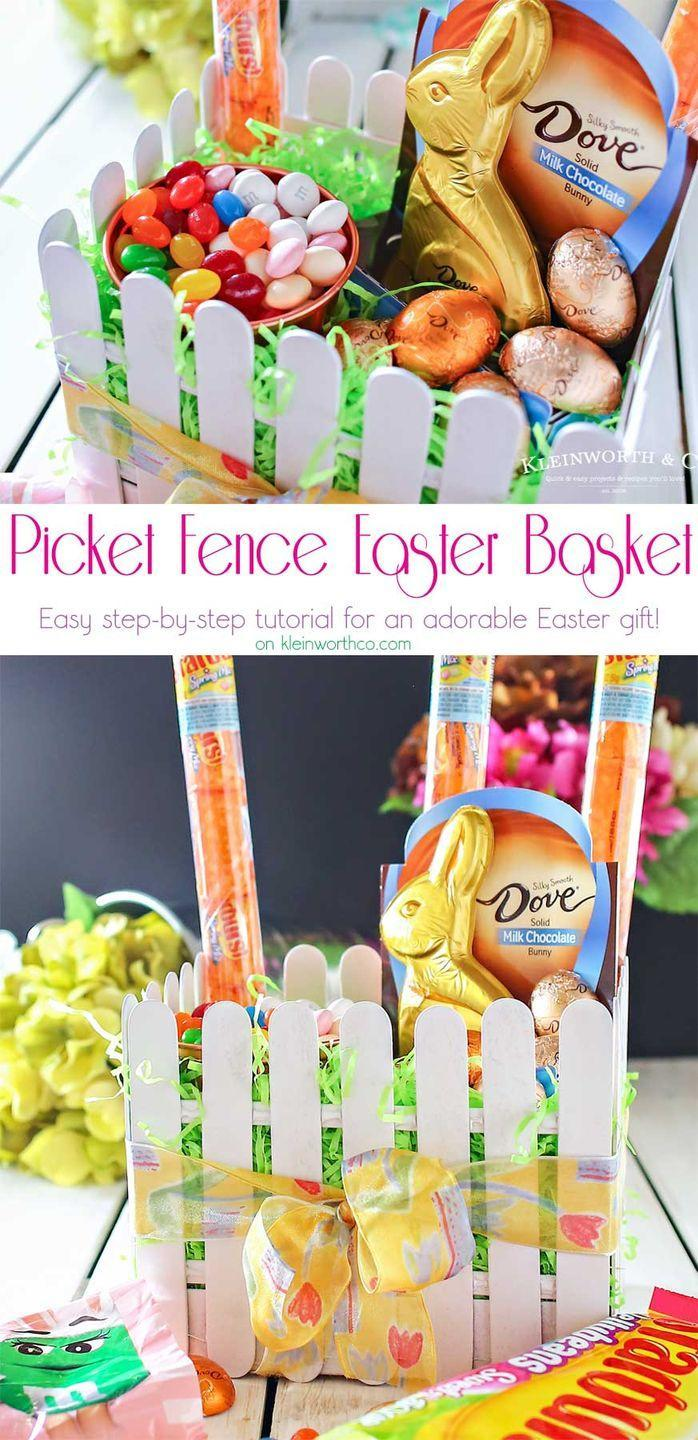 "<p>White craft sticks and green Easter grass make for a very cute basket with a decidedly springtime vibe. </p><p>Get the tutorial at <a href=""https://www.kleinworthco.com/picket-fence-easter-basket/"" rel=""nofollow noopener"" target=""_blank"" data-ylk=""slk:Kleinworth & Co."" class=""link rapid-noclick-resp"">Kleinworth & Co.</a></p><p><a class=""link rapid-noclick-resp"" href=""https://www.amazon.com/Natural-Wood-Craft-Sticks-Pack/dp/B06W9F3GD9/?tag=syn-yahoo-20&ascsubtag=%5Bartid%7C10072.g.30506642%5Bsrc%7Cyahoo-us"" rel=""nofollow noopener"" target=""_blank"" data-ylk=""slk:SHOP CRAFT STICKS"">SHOP CRAFT STICKS</a></p>"