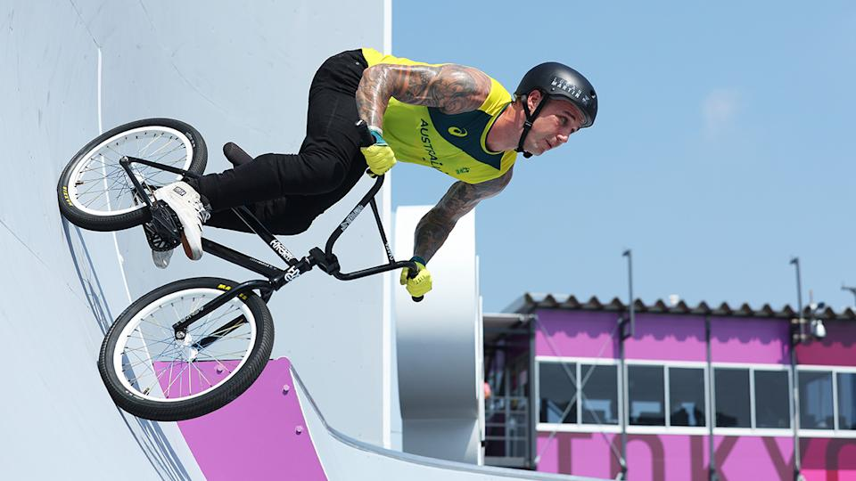 Logan Martin, pictured here competing in the BMX freestyle event at the Tokyo Olympics.
