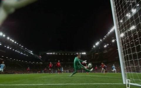 De Gea lets it through - Credit: Sky