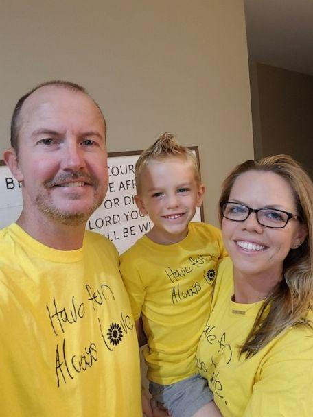 PHOTO: Ellie Pruitt, 8, of Woodstock, Georgia, Feb. 6, 2020. Parents Heather and Chuck Pruitt later found a list that Ellie had secured to her bedroom door before she died. Here, the Pruitts are pictured with their son, Luke, 5. (Children's Healthcare of Atlanta)