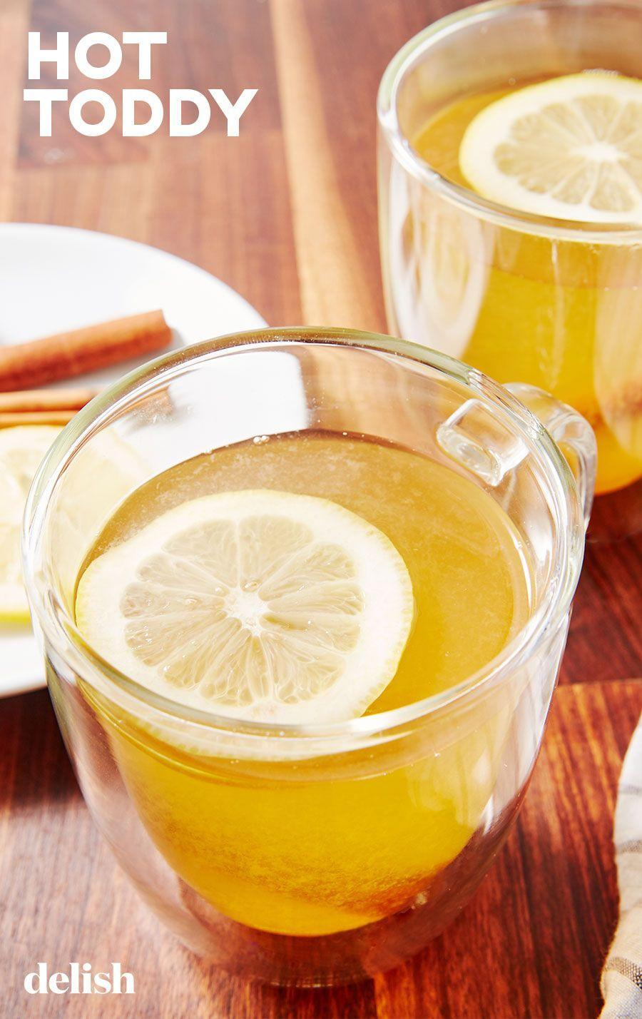"""<p>You can make an apple cider variation with a few swaps.</p><p>Get the recipe from <a href=""""https://www.delish.com/cooking/recipe-ideas/a28845622/hot-toddy-drink-recipe/"""" rel=""""nofollow noopener"""" target=""""_blank"""" data-ylk=""""slk:Delish"""" class=""""link rapid-noclick-resp"""">Delish</a>.</p>"""