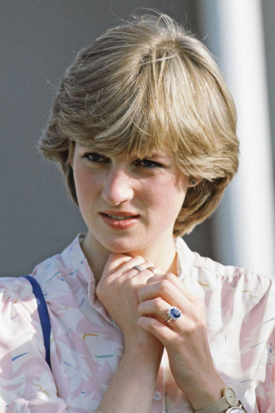 "<p>Princess Diana picked her sapphire and diamond cluster ring out of a Garrard catalog. Little did she know she'd be sparking an industry-wide trend. Not long after the royal-to-be debuted her sparkler on the lawn of Buckingham Palace, colored stone engagement rings started to make a huge comeback. </p><p><strong>RELATED</strong>: <a href=""https://www.goodhousekeeping.com/beauty/fashion/g4655/princess-diana-wedding-dress/"" rel=""nofollow noopener"" target=""_blank"" data-ylk=""slk:10 Hidden Details You Didn't Know About Princess Diana's Wedding Dress"" class=""link rapid-noclick-resp"">10 Hidden Details You Didn't Know About Princess Diana's Wedding Dress</a></p>"