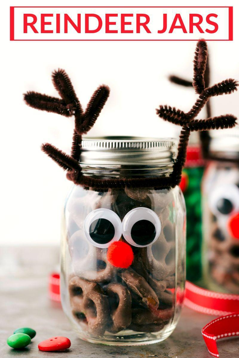"""<p>Use these adorable character jars to transport a homemade dessert (hello, hostess or teacher gift!). </p><p><strong>Get the tutorial at <a href=""""https://www.chelseasmessyapron.com/christmas-mason-jar-gift-ideas/"""" rel=""""nofollow noopener"""" target=""""_blank"""" data-ylk=""""slk:Chelsea's Messy Apron"""" class=""""link rapid-noclick-resp"""">Chelsea's Messy Apron</a>. </strong></p><p><a class=""""link rapid-noclick-resp"""" href=""""https://www.amazon.com/eBoot-Pieces-Cleaners-Chenille-Crafts/dp/B071ZPQXGN/?tag=syn-yahoo-20&ascsubtag=%5Bartid%7C10050.g.2132%5Bsrc%7Cyahoo-us"""" rel=""""nofollow noopener"""" target=""""_blank"""" data-ylk=""""slk:SHOP PIPE CLEANERS"""">SHOP PIPE CLEANERS</a><br></p>"""