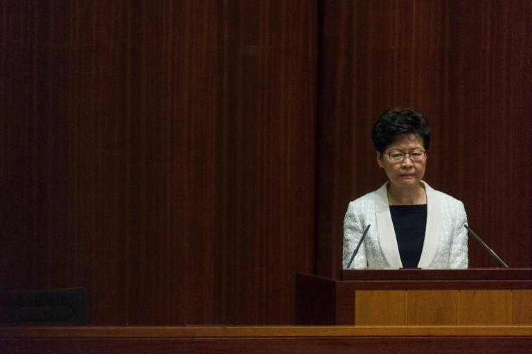 Hong Kong Chief Executive Carrie Lam reached out to citizens in a Facebook Live broadcast