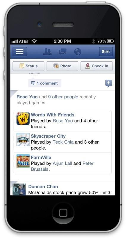 Facebook game changes mobile