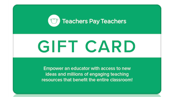 Gifts for teachers: Teachers Pay Teachers gift card