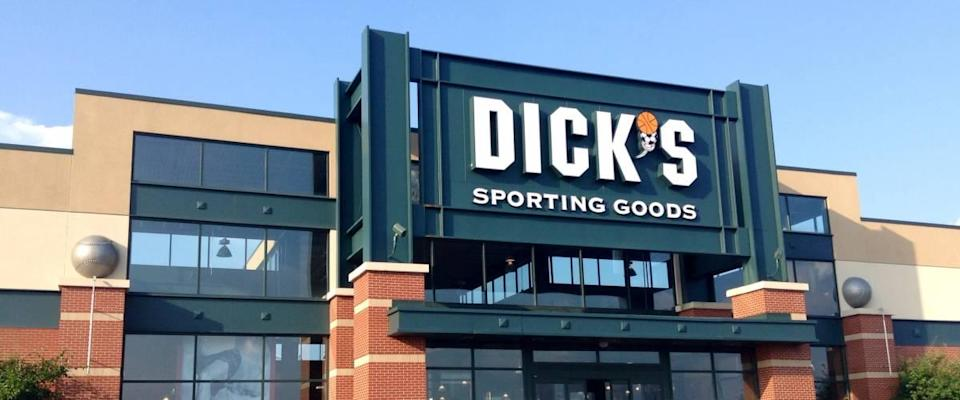 Dick's Sporting Goods exterior against blue sky background