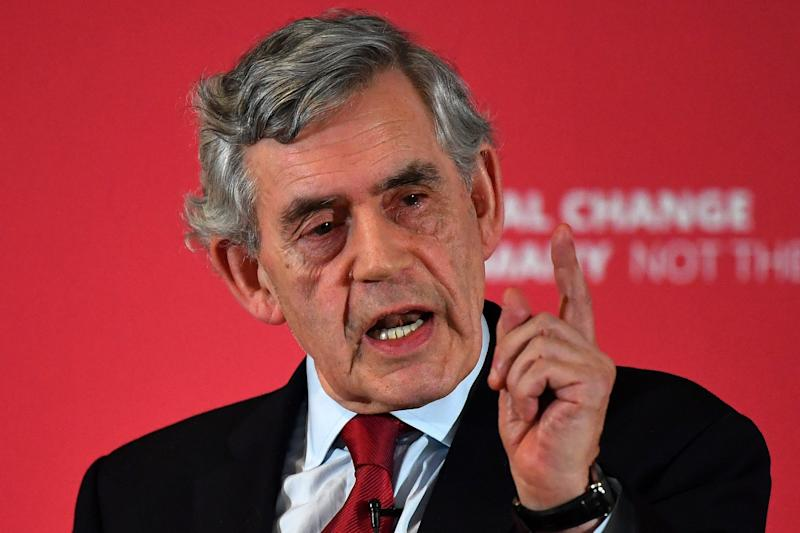 Former prime minister Gordon Brown called for a probe into the finances of the Brexit Party (Getty Images)