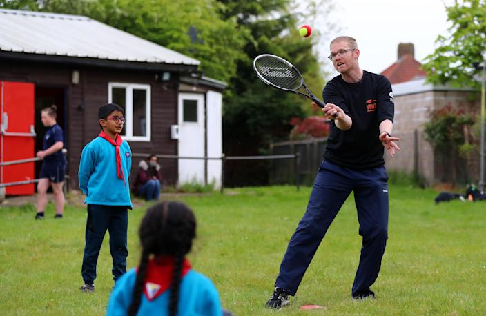 Beavers will learn basic tennis activities as part of a three-year partnership