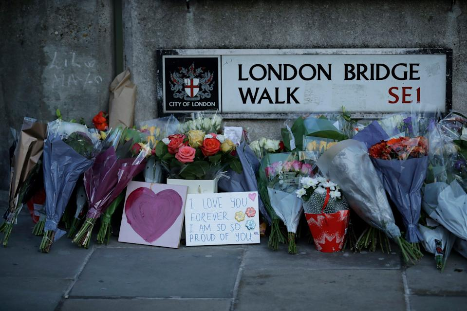 The terrorist who murdered two people in the Fishmongers' Hall attack in November 2019 had become even more radicalised while in prison (AP)