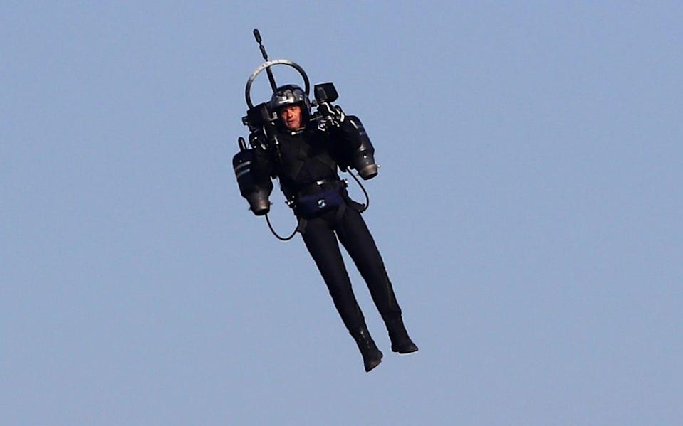 Pilots reported the man was flying within 900 feet of commercial airliners - VALERY HACHE/AFP