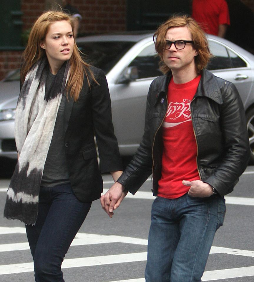 "Mandy Moore's musician boyfriend Ryan Adams blamed their breakup on the paparazzi, claiming that he is ""allergic"" to cameras. Tom Meinelt-Ahmad Elatab/<a href=""http://www.splashnewsonline.com/"" target=""new"">Splash News</a> - May 6, 2008"